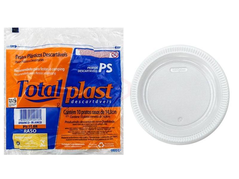 PRT-015 PRATO TOTALPLAST C/10 UNIDADES
