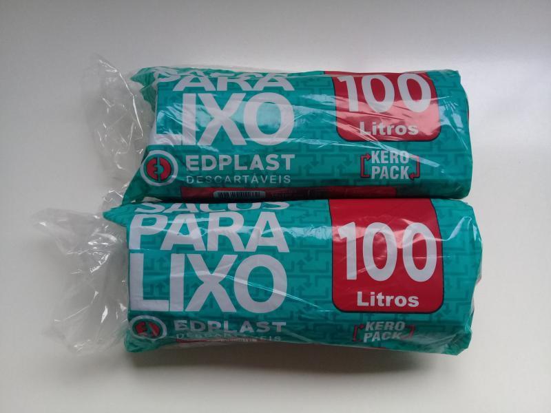 ROLAO LIXO EDPLAST 100 LTS  FD 10X25 UN