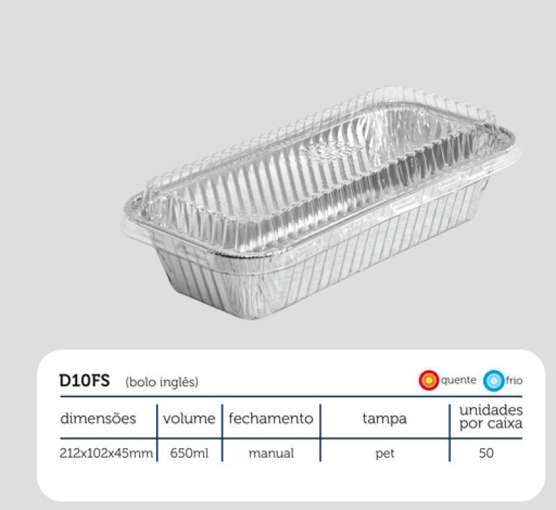 D10FS - BANDEJA BOLO INGLES WYDA  ALUM C/TAMPA PET 650 ML CX/50 UN