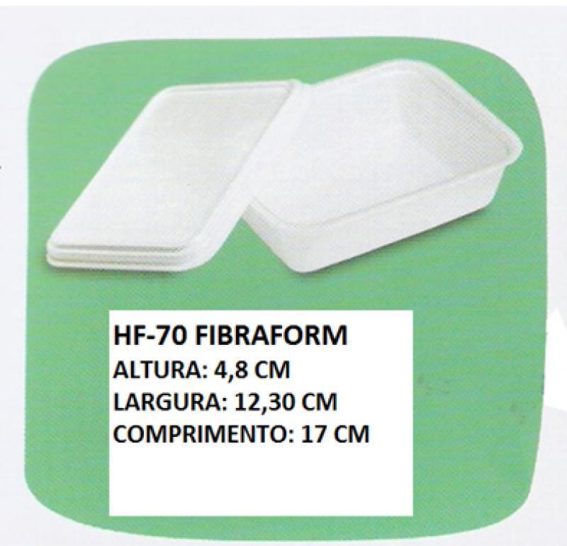 HF-70 POTE QUADRADO ISOP. FIBRAFORM 500 ML CX/400 UN 17X12,3X4,8 CM S/TAMPA