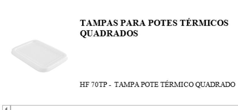 TAMPA  HF-70 P/POTE QUADRADO ISOP. HF-70 FIBRAFORM 500 ML CX/400 UN