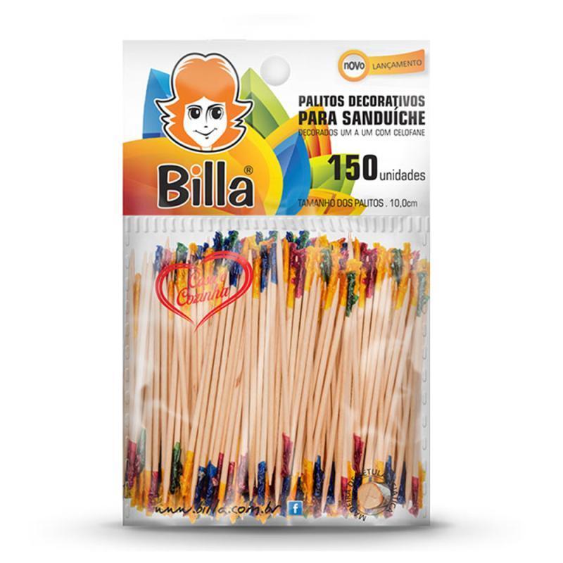 PALITO DECORAT P/COQUITEL BILLA C/150 UN