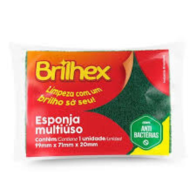 BRK-7869 ESPONJA BRILHEX  MULTI USO 9,9X7,1X2CM FD C/60 UN