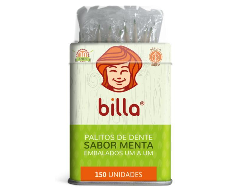 PALITO SACHE MENTA BILLA LATA C/ 150 UN