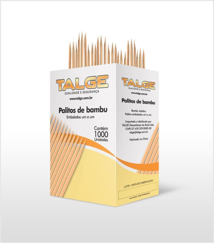 PALITOS P/DENTE TALGE BAMBU SACHE C/ 1000 UN
