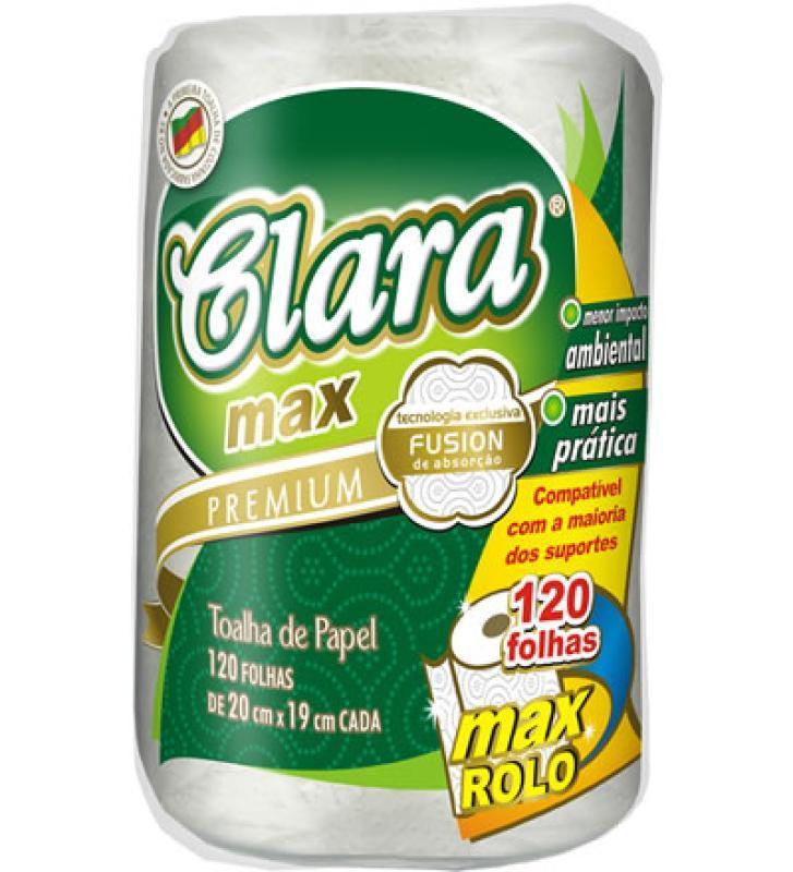 PAPEL TOALHA CLARA MAX 24X01 F.DUPLA 20X19 CM