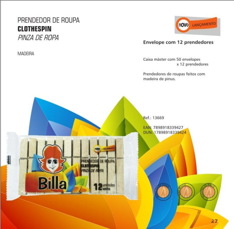 PRENDEDOR DE ROUPA DE MADEIRA C/ 12UN(9427)