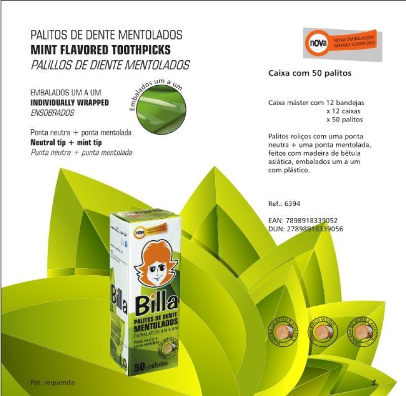 PALITO SACHE MENTA BILLA 12X50
