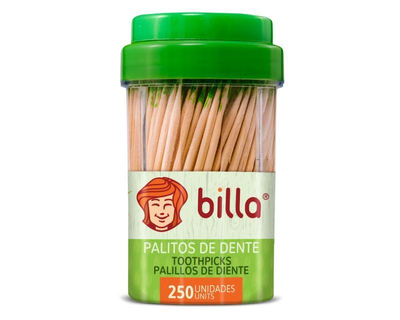 PALITOS P/DENTE BILLA MENTA POTE CX16X250