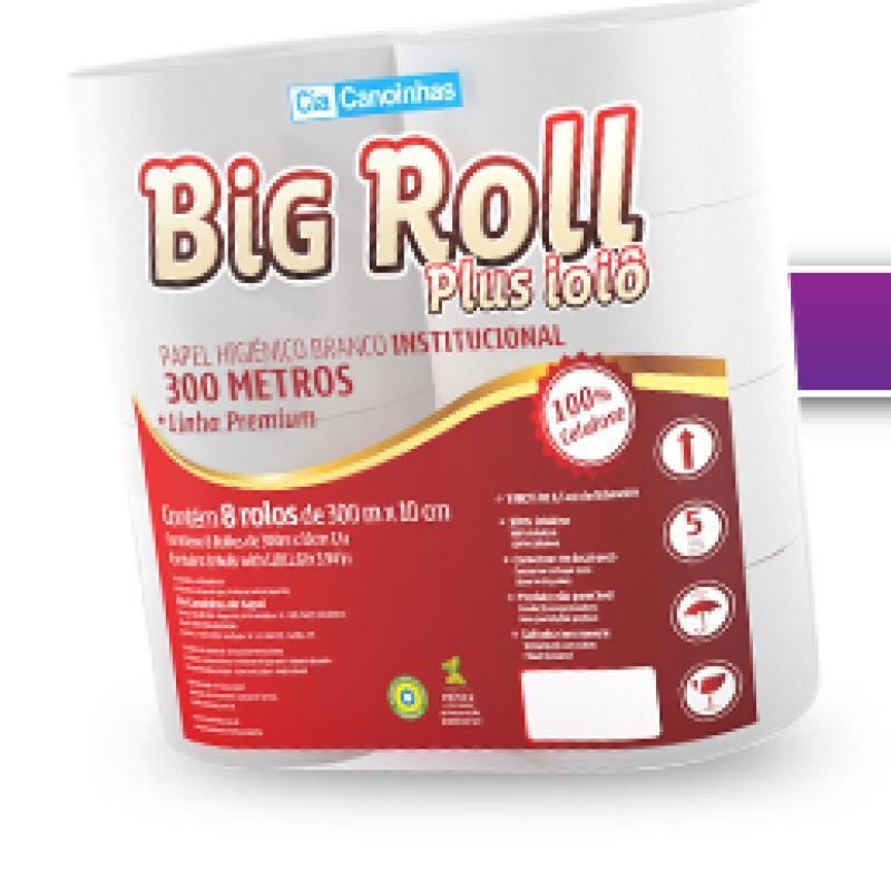 PAPEL HIG. ROLAO BIG ROLL FOFINHO 300MT C/8 UN