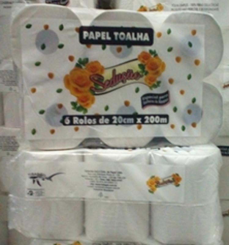 PAPEL TOALHA ROLO 32GR EDPLAST 20X200 C/6