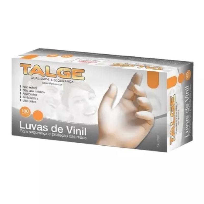 LUVA VINIL TALGE G COM PO CX C/100 UN 069