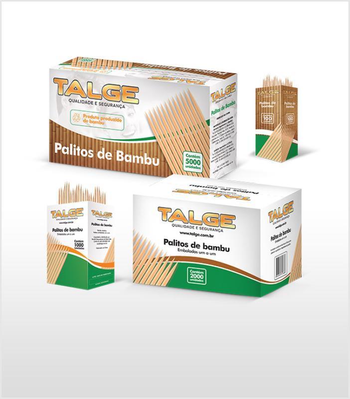 PALITOS P/DENTE TALGE  BAMBU 25 X 100