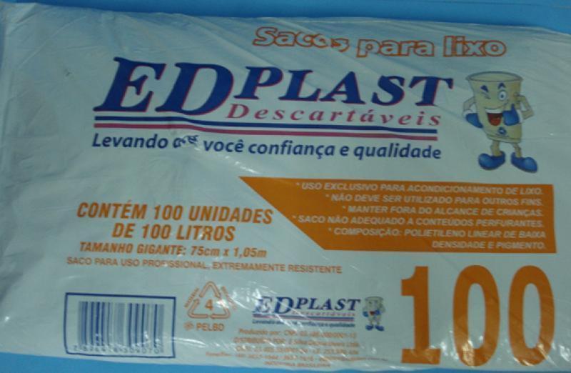SACO LIXO ALMOFADA 100 LTS 50X05 UN