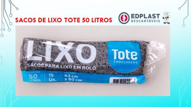 ROLO LIXO TOTE 50 LITROS CX 25 X15 UN 63X80