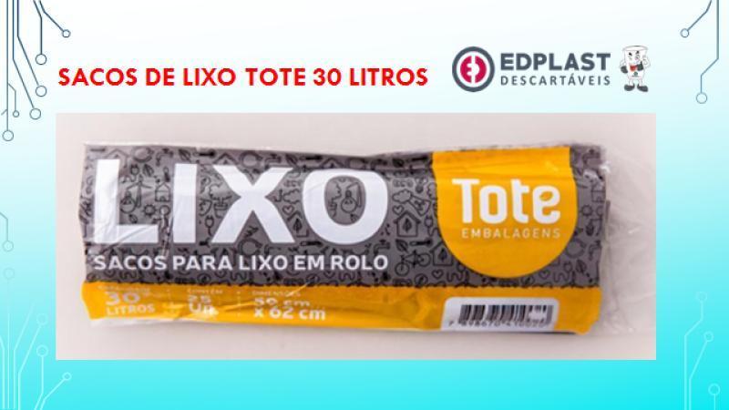 ROLO LIXO TOTE 30 LITROS CX 25 X25 UN 59X62