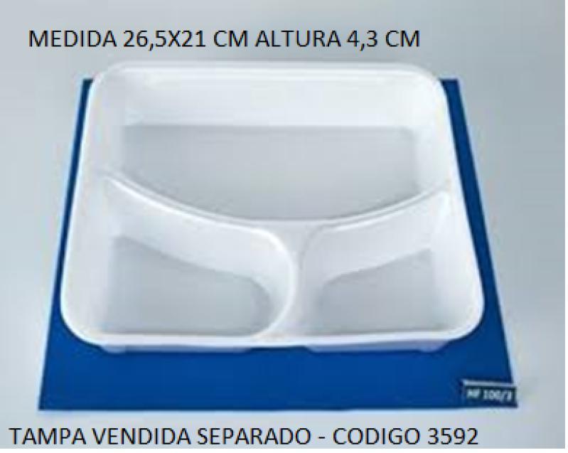 HF-100/3 POTE QUAD.3 DIV ISOP. FIBRAFORM CX/100 UN 26,5X20,5X4,3 CM S/TAMPA